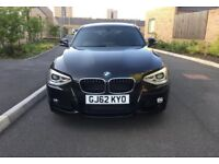2012 BMW 1 SERIES 1.6 AUTO M SPORT TURBO,5 DR,4 MONTHS MOT, £9,850