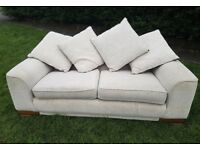 FREE DELIVERY BEIGE DFS 3 SEATER SOFA WITH REVERSIBLE CUSHIONS EXCELLENT CONDITION