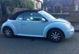VW Beetle convertable Baby Blue