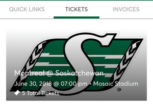 5 Rider Tickets for June 30th Game