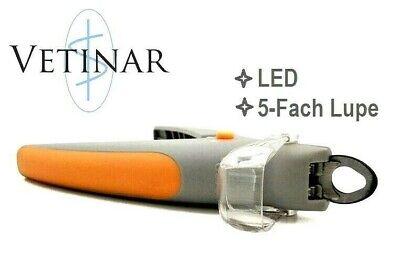 VETINAR™ PROFI LED und Lupe Sicherheits-Krallenzange PREMIUM Qualität Hund
