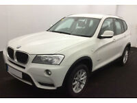 White BMW X3 2.0 d se manual 184 bhp FROM £57 PER WEEK!