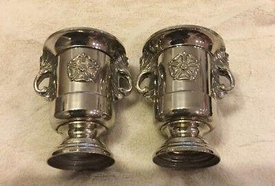 Pair Of Silver Antique Vases Grenadier England