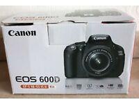 canon 600d + lens + box