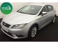 ONLY £178.20 PER MONTH SILVER 2013 SEAT LEON 1.6 SE 5 DR DIESEL MANUAL