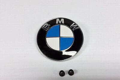 Genuine BMW Hood Roundel, Emblem 82mm, 51148132375, 51 14 8 132 375