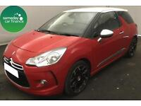 £175.31 PER MONTH RED 2014 CITROEN DS3 1.6 E-HDI A/D DSPORT PLUS 3 DOOR MANUAL