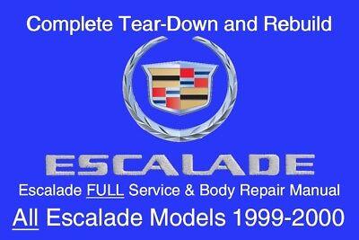 Cadillac Escalade 1999 - 2000 Service Repair Workshop Manual Maintenance GM DVD