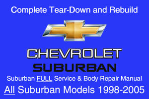 Chevrolet suburban service and repair manual covering 2004, 2005.