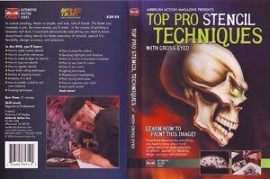 TOP PRO STENCIL TECHNIQUES DVD, KUSTOM AIRBRUSH PAINT