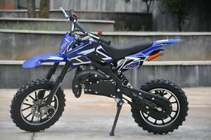 BRAND NEW 50CC PREMIUM GAS POCKET DIRT BIKE MOTOCROSS 2-STROKE 49CC FOR KIDS!