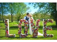 LARGE FLOWER LOVE LETTERS FOR HIRE