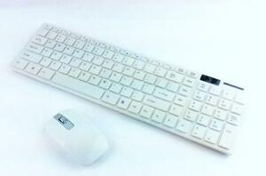 SLIM WHITE SPILLPROOF 2.4G WIRELESS KEYBOARD & MOUSE COMBO FOR LENOVO DESKTOP