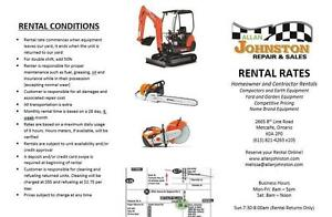 Homeowner and Contractor Rental Equipment