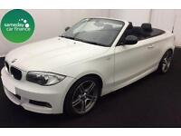 £240.10 PER MONTH WHITE 2012 BMW 118D 2.0SPORT PLUS CONVERTIBLE DIESEL MANUAL