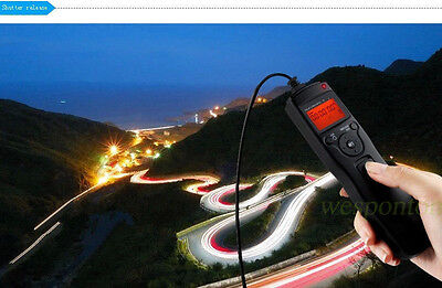 New Wired LCD Timer Remote Control Shutter Release for Nikon D80 D70S MC-DC1