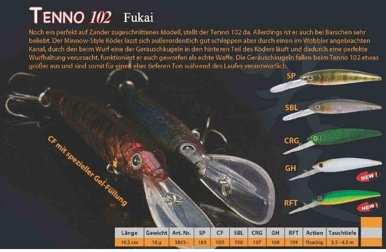 Tenno 102 Fukai Iron Claw - Doiyo Concept Wobbler Gewicht: 16g