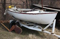 12' Sailboat and Trailer