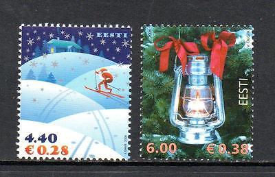 ESTONIA MNH 2006 SG535-536 CHRISTMAS
