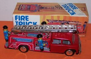 Fire Truck Friction Drive Toy With Siren - New In Box