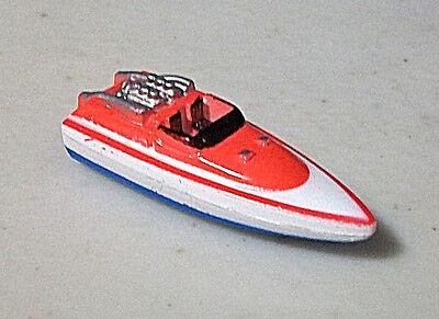 MICRO MACHINES WATERCRAFT SPEED BOAT TYPE 1 VTG GALOOB LGT WHITE RED BLUE RARE