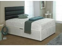 ***⚫***Black White Or Grey Colours**⚫ New Double or King Divan Bed base and Orthopedic Mattress