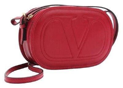 Valentino Garavani red Leather Shoulder Bag $ 2150.00