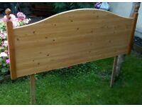 Wooden Double Headboard