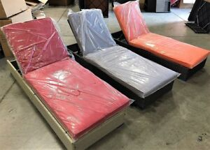 Patio Furniture Chaise Lounge  - 3 colours options - Price Firm