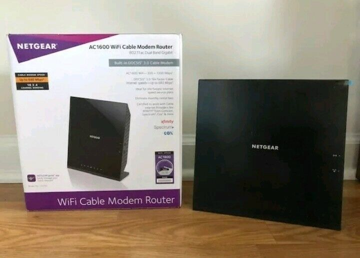 NETGEAR AC1600 Wireless Router with DOCSIS 3.0 Cable Modem Black C6250-100NAS