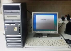 HP INTEL PENTIUM 4, 3GHZ 1GB RAM 80GB HDD 15 INCH TFT MONITOR KEYBOARD MOUSE INCLUDED