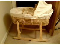 Claire de Lune Moses Basket and stand