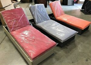 Patio furniture chaise lounge - 3 colours available - price firm