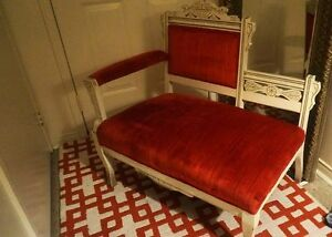 ANTIQUE SETTEE- OVER 100 YRS OLD- EXCELLENT CONDITION