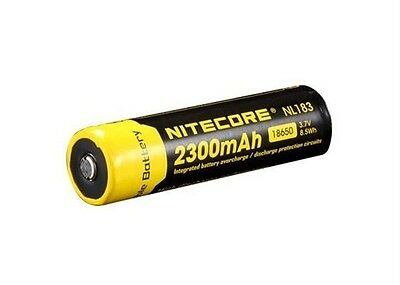 NITECORE NL183 (NL1823) 2300mAh 18650 Battery - Protected & Rechargeable