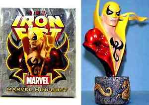 Bowen Iron Fist Red Club Exclusive Bust Statue Marvel ...