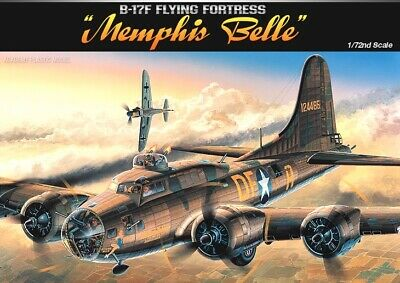 "[Academy] 1/72 B-17F ""MEMPHIS BELLE"" Plastic Model Kit Aircraft 12495"
