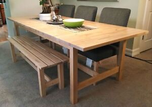 Dining table in Birch with an extra leaf.