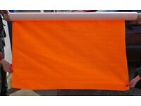 Orange (And A Bit Of Yellow) PVC Hi-Vis Waterproof Material CLEARANCE Only £10 Collect B63 3SW