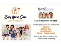 Babyhomecare. Your number one nanny Agency