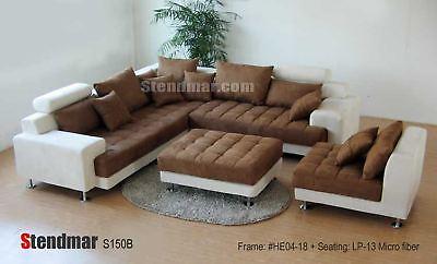 5-Piece Modern Two-Tone Sectional Sofa Set -