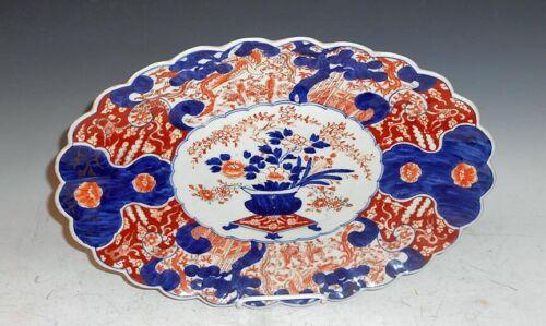 Large Antique Japanese Imari Porcelain Platter