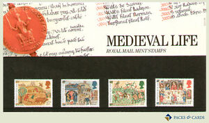 1986-Medieval-Life-Stamp-Presentation-Pack-PP148-printed-no-172-Royal-Mail