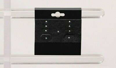 100pc Earring Display Cards Black Earring Cards Jewelry Cards Hanging 2x2 Cards