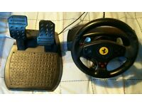 Steering wheel and pedals for PS3, PS2 or PC
