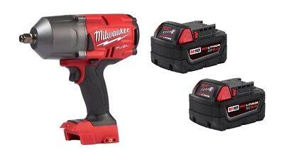 "Milwaukee 2767-20 M18 FUEL ½"" Impact WrenchGEN II 1400lbs + (2) 48-11-1850 5.0AH"
