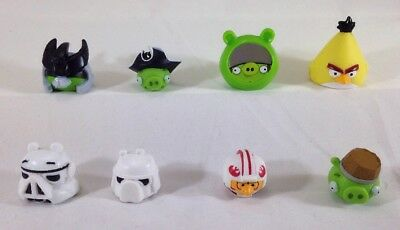 Angry Birds Pigs Figure Lot of 8 Star Wars Pirate Samurai