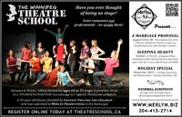 WINNIPEG THEATRE SCHOOL - Acting Classes for ages 10 to 55