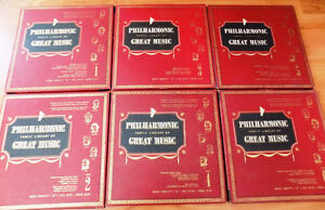 SIX VOLUMES  of The PHILHARMONIC FAMILY OF GREAT MUSIC