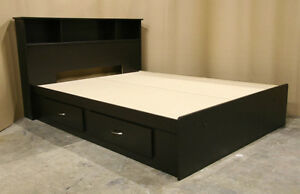 Brand New Full Size Double Captains Bed Espresso